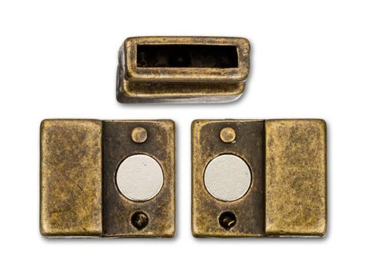 Regaliz 21x12mm Antique Brass-Plated Magnetic Clasp Set