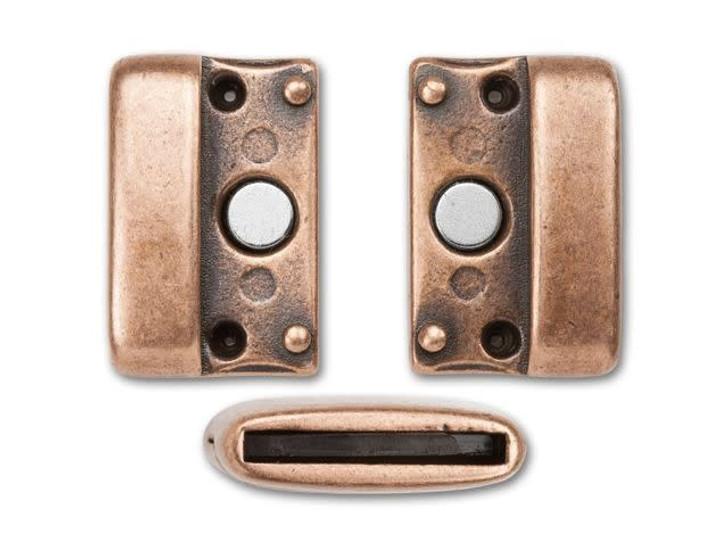 Regaliz 22 x 23mm Antique Copper-Plated Large Magnetic Clasp Set