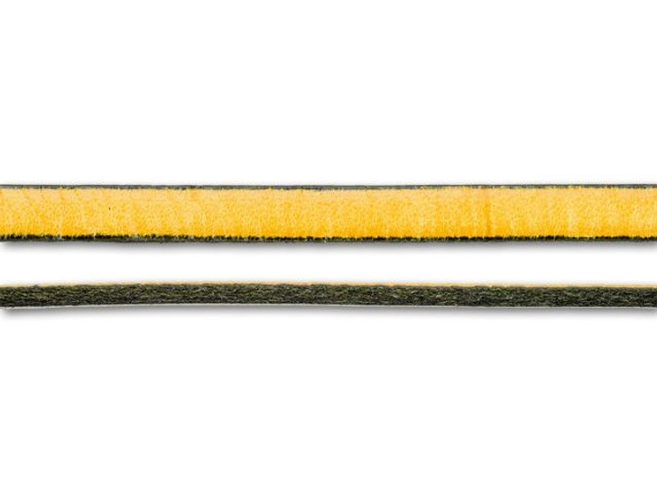 Regaliz 5mm Antique Yellow Flat Leather by the Inch