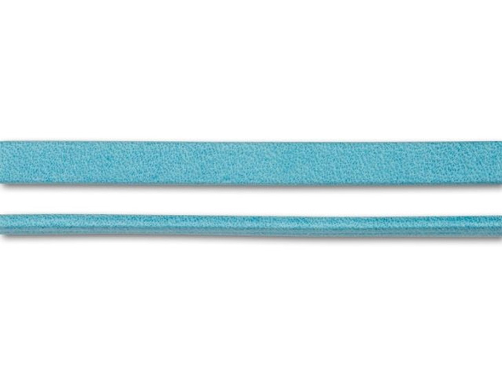 Regaliz 5mm Turquoise Arizona Flat Leather by the Inch