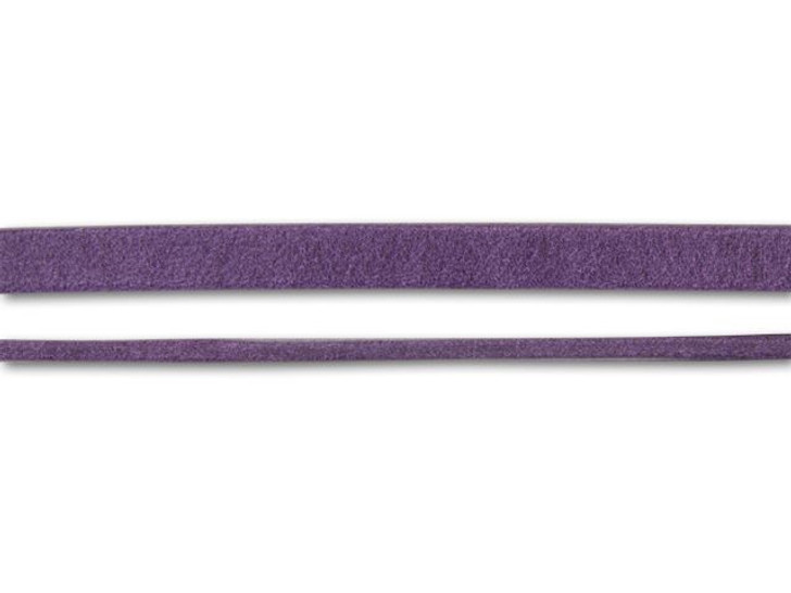 Regaliz 5mm Violet Arizona Flat Leather by the Inch