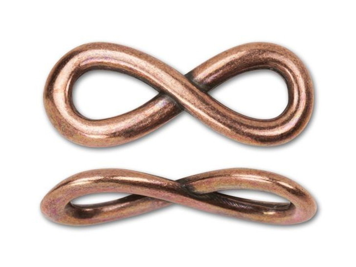 Regaliz Antique Copper-Plated 12x30mm Infinity Slider Bead