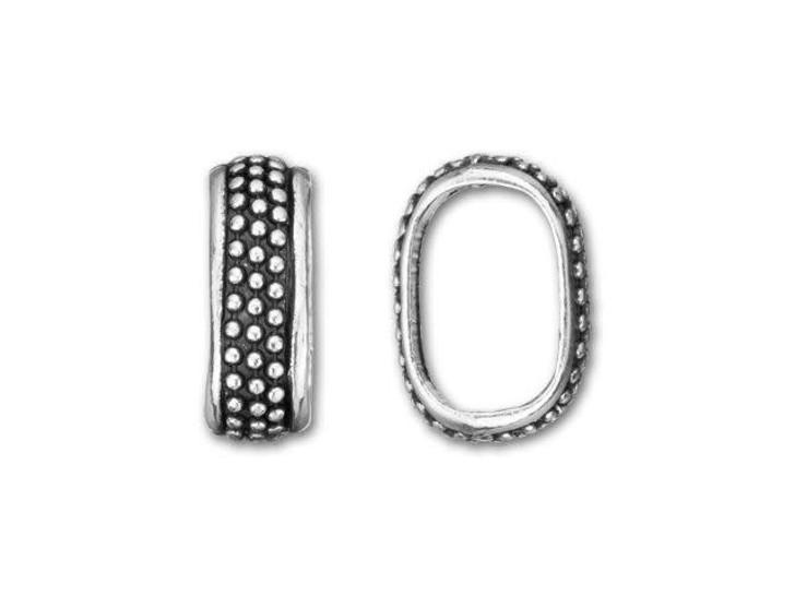 Regaliz Antique Silver-Plated Medium Dots Slider Bead