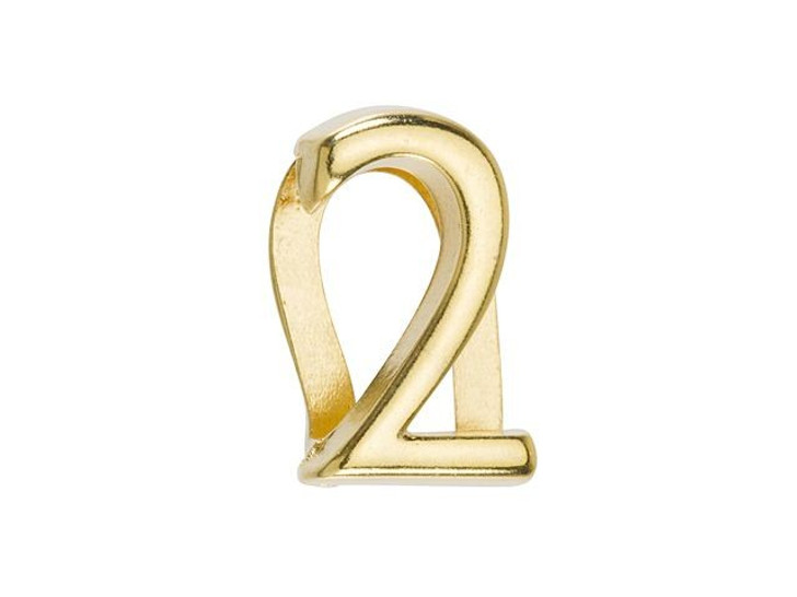 Regaliz Gold-Plated Pewter Number Slider Bead for Flat Leather - 2
