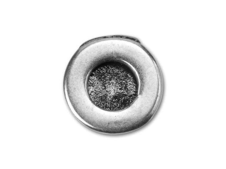 Regaliz Silver-Plated Round Embellishable Cabochon Slider Bead