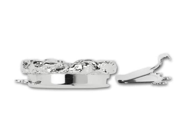 Rhodium-Plated Rotunda Embellishable Clasp