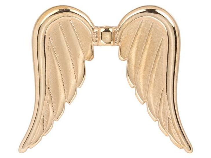 Rose Gold-Plated 32mm Long Angel Wing Bead