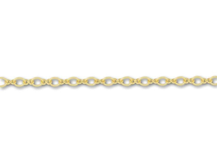 Satin Hamilton Gold-Plated 1+1 Infinity Link Chain by the Foot