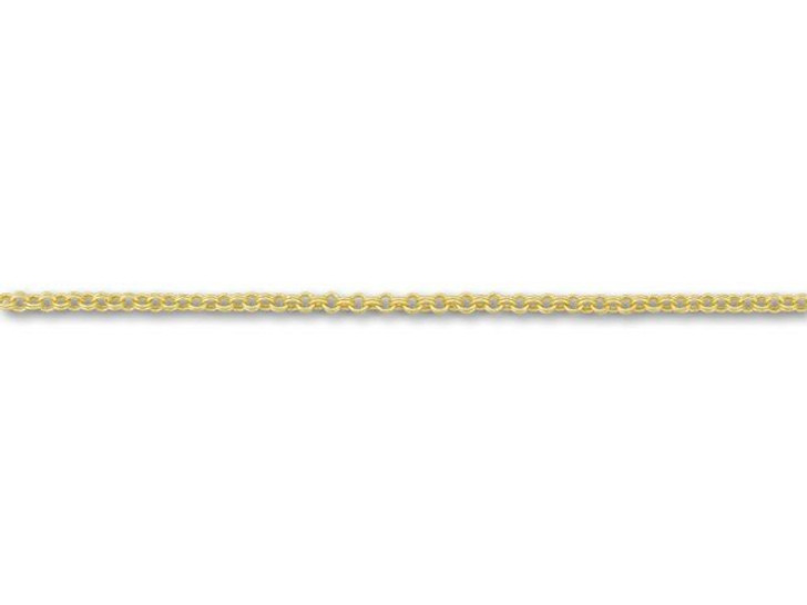 Satin Hamilton Gold-Plated Double Rollo Chain by the Foot