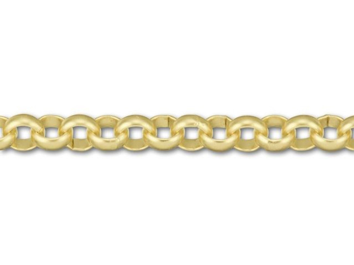 Satin Hamilton Gold-Plated Large Rollo Chain by the Foot