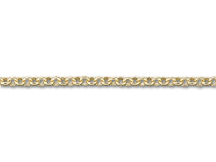 Satin Hamilton Gold-Plated Rollo Chain by the Foot
