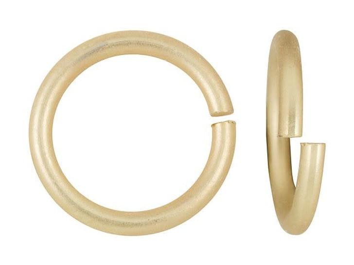 Satin-Hamilton Gold-Plated Brass 12mm 14 Gauge Round Open Jump Ring