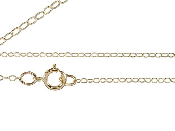 18-Inch Gold-Filled Flat Cable Chain Necklace