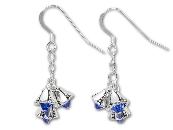 Silver and Blue Bells Earring Kit
