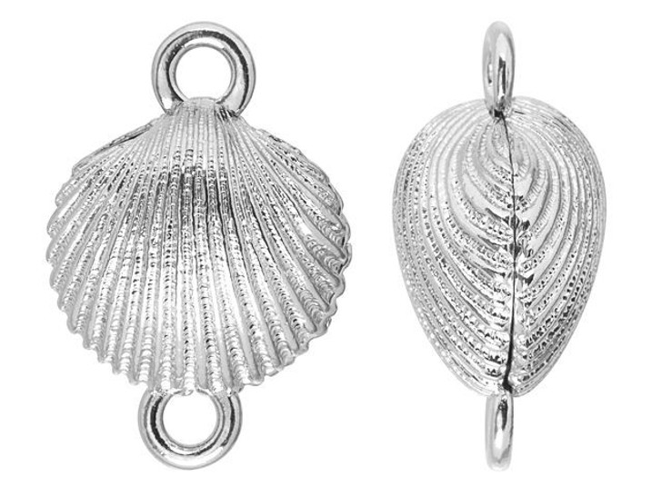 Silver-Plated 17mm Magnetic Clamshell Clasp