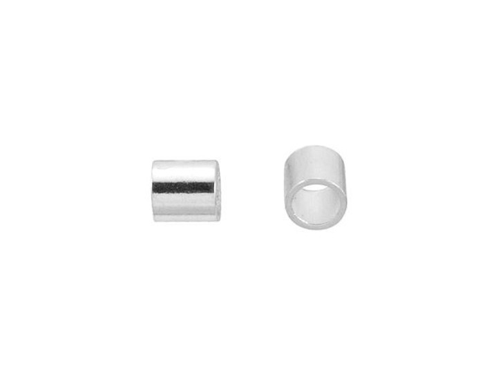 Silver-Plated 2 x 2mm Crimp Tube