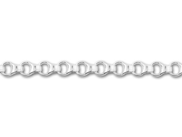 Silver-Plated Box Rollo Chain by the Foot