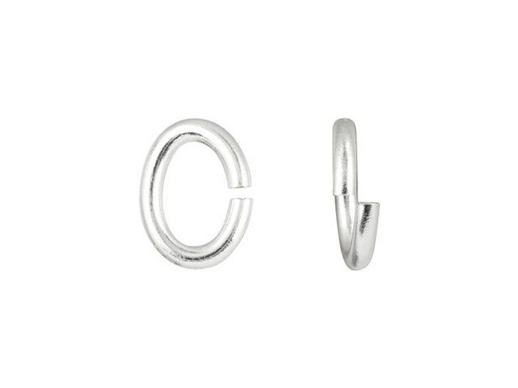 Silver-Plated Brass 6mm Open Oval Jump Ring