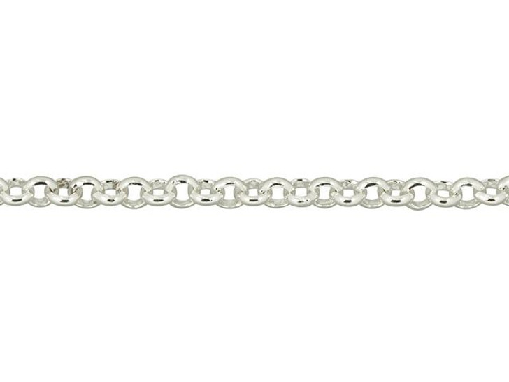 Silver-Plated Brass Small Rollo Chain by the Foot