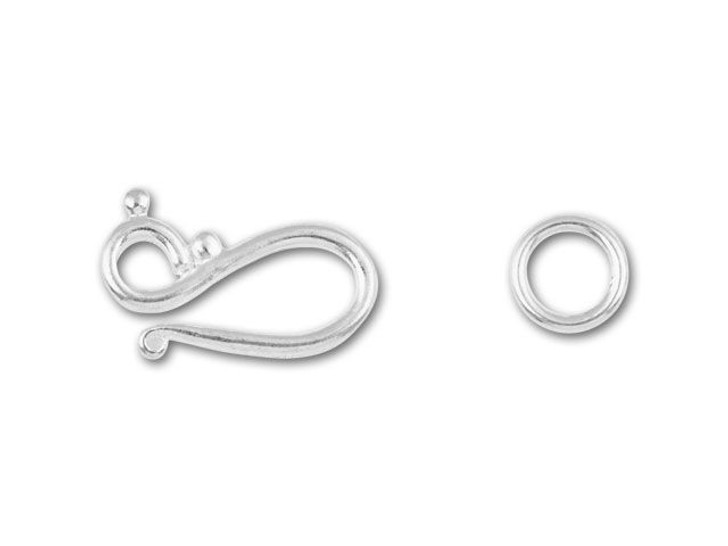 Silver-Plated Hook & Eye Clasp