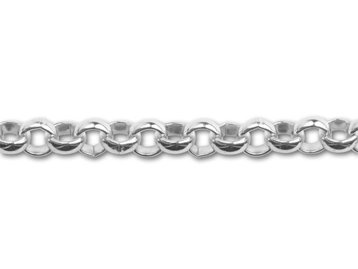 Silver-Plated Large Rollo Chain by the Foot