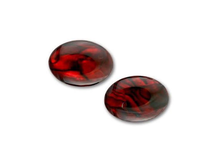 18x13mm Oval Paua Cabochon - Ruby
