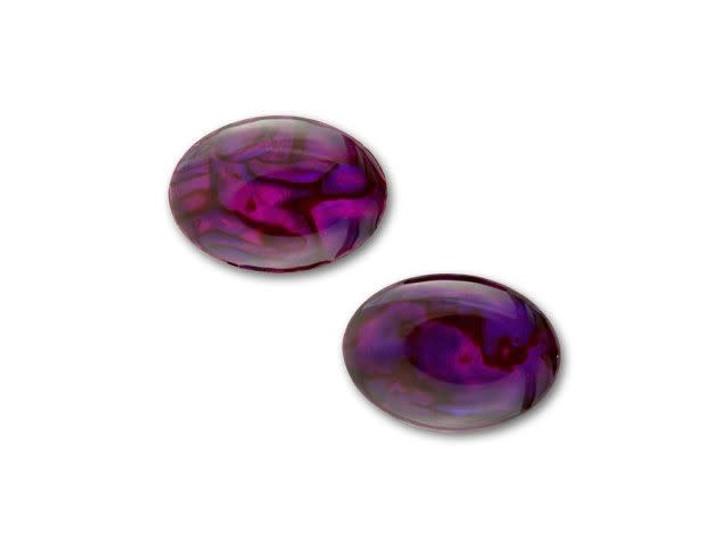 18x13mm Oval Paua Cabochon - Violet