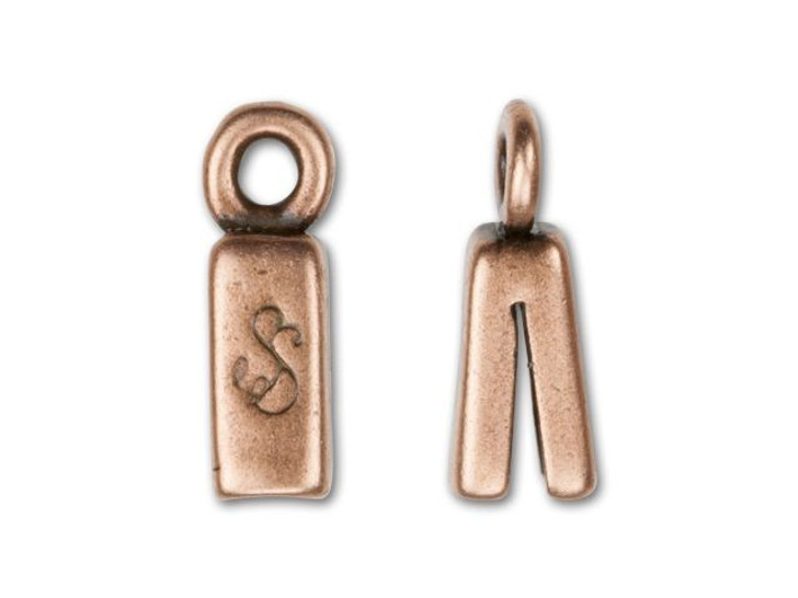 SilverSilk 4mm Antique Copper-Plated Pewter End Cap