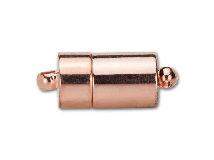 18x7mm Copper-Plated Barrel Magnetic Clasp