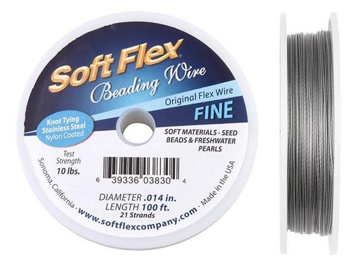 Soft Flex .014 Fine 100FT Clear (Silver Satin)