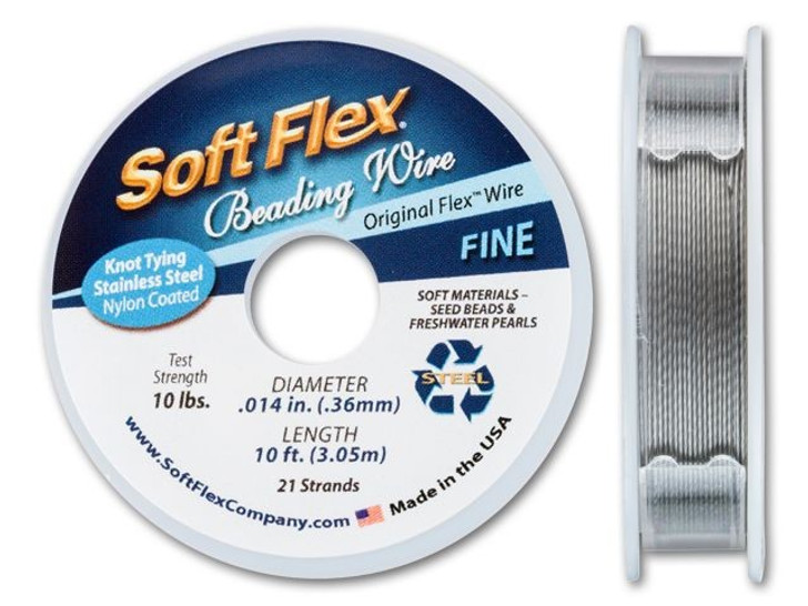 Soft Flex .014 Fine 10FT Clear (Satin Silver)