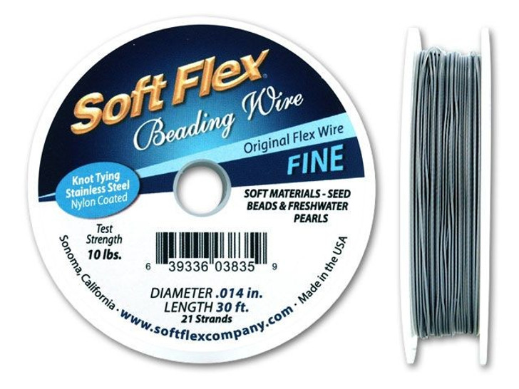 Soft Flex .014 Fine 30FT Clear (Silver Satin)