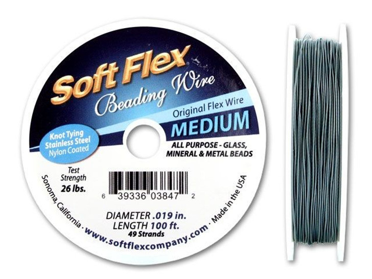 Soft Flex .019 Medium 100FT Clear (Silver Satin)