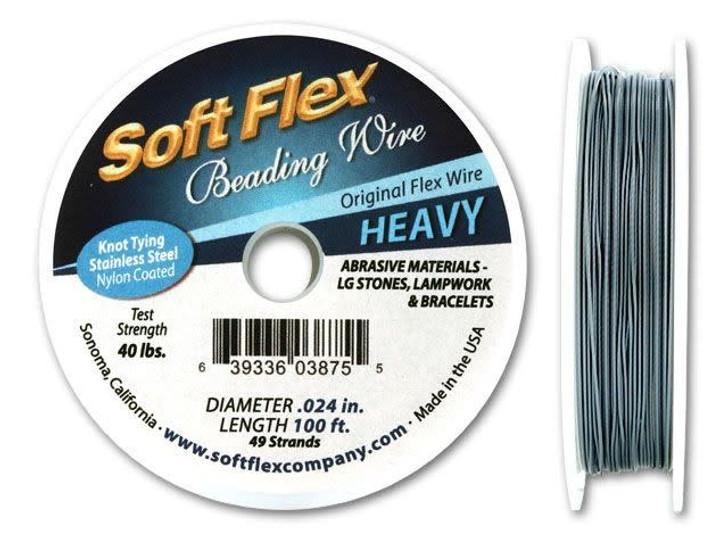 Soft Flex .024 Heavy 100FT Clear (Silver Satin)