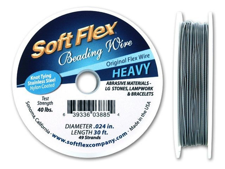Soft Flex .024 Heavy 30FT Clear (Silver Satin)