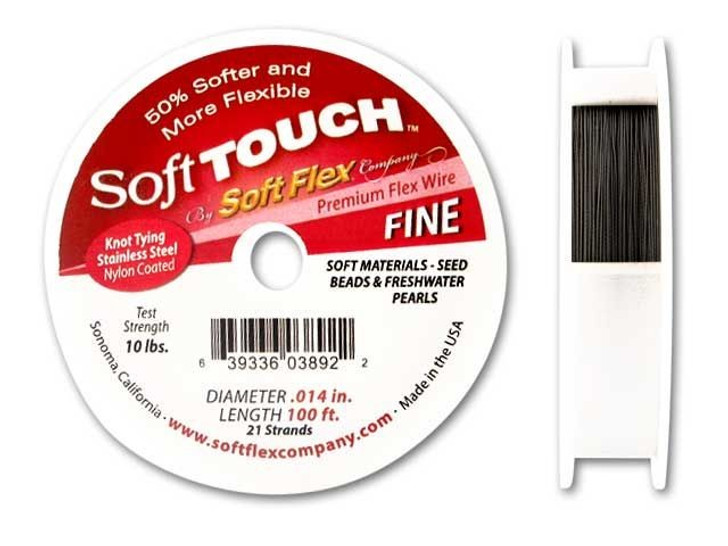 Soft Touch .014 Fine 100FT (Silver Satin)