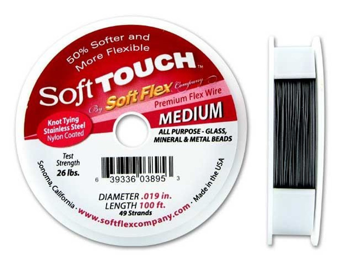 Soft Touch .019 Medium 100FT (Silver Satin)