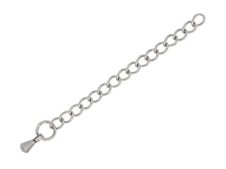 Stainless Steel 3mm Curb Chain Extender with 2mm Drop