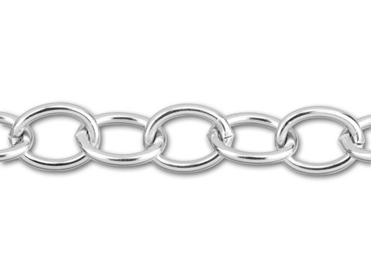 Stainless Steel Large Oval Cable Chain by the Foot