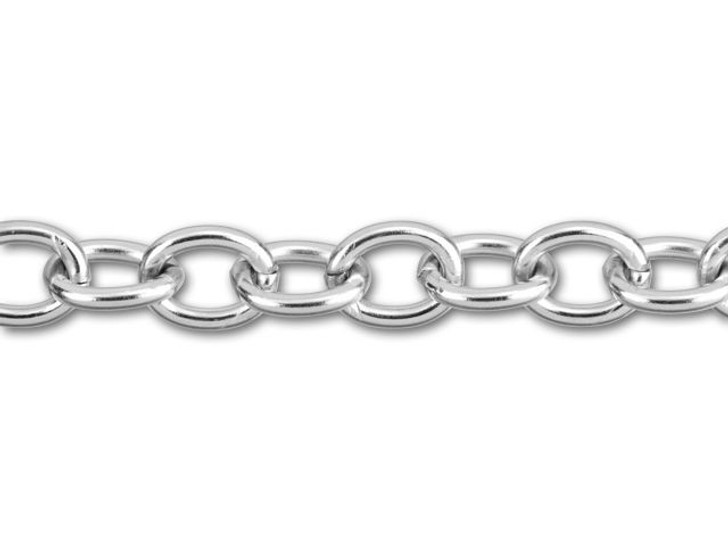 Stainless Steel Oval Cable Chain by the Foot