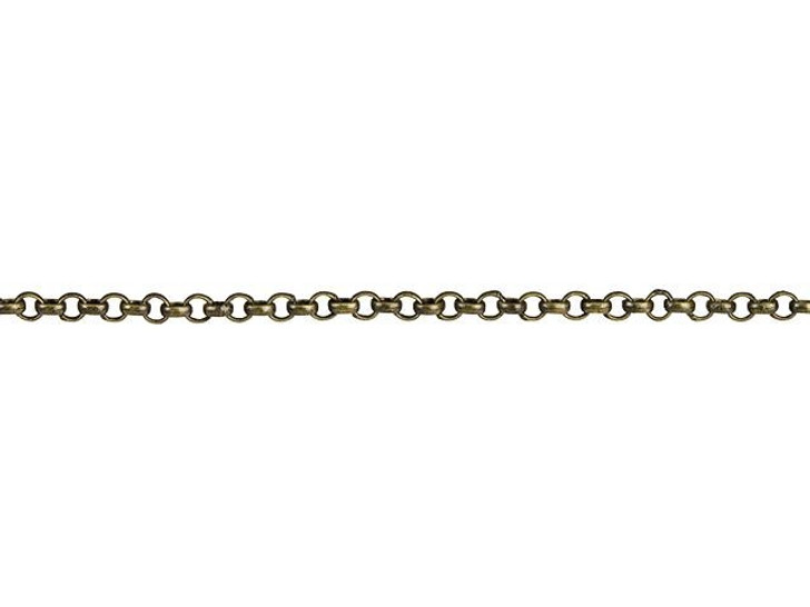 1mm Antique Brass Delicate Rolo Chain By the Foot