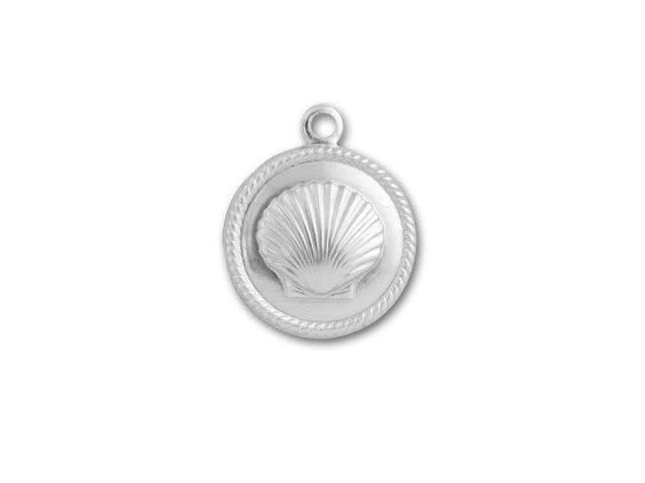 Sterling Embossed Seashell Charm