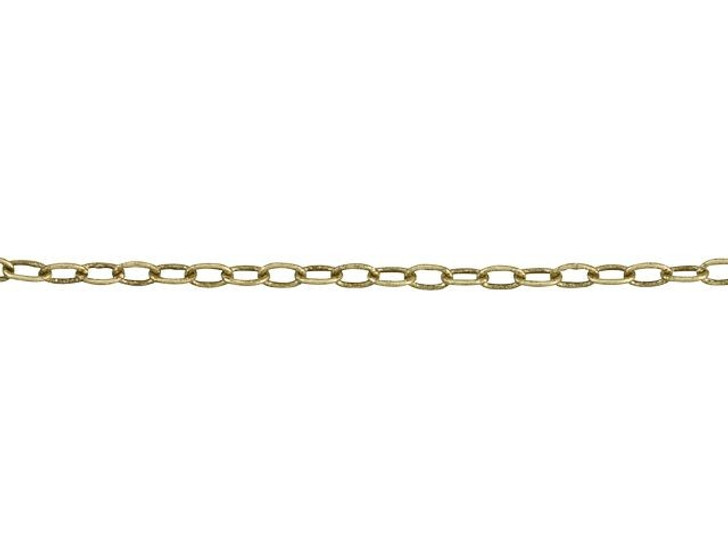 1mm Antique Brass Elegant Elongated Cable Chain By the Foot