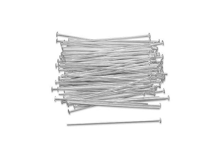 Sterling Silver 1 1/2-Inch Head Pin, 20 Gauge Bulk Pack (100 Pcs)