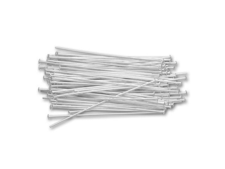 Sterling Silver 1.5-Inch Head Pin, 22 gauge Bulk Pack (100 Pcs)