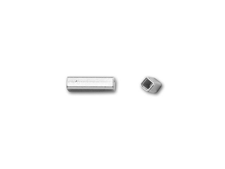 Sterling Silver 1.5x6mm Square Tube Bead