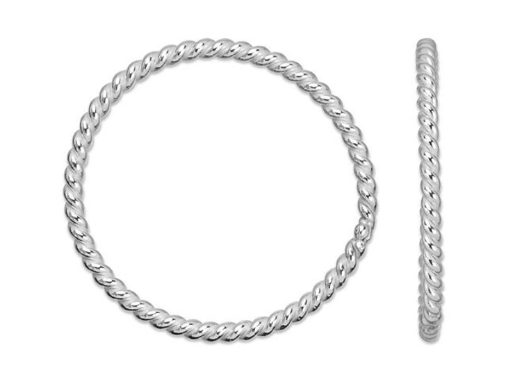 Sterling Silver 10-11mm Twisted 20 Gauge Closed Jump Ring