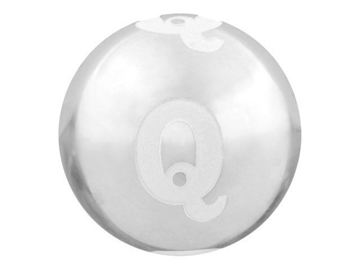 Sterling Silver 12mm Alphabet Bead - Q
