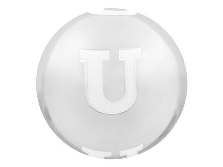 Sterling Silver 12mm Alphabet Bead - U