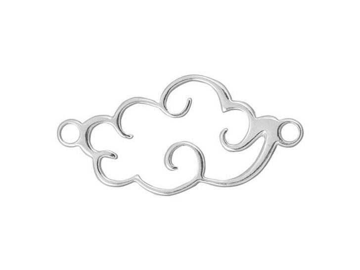 Sterling Silver 13x25mm Large Cloud Link